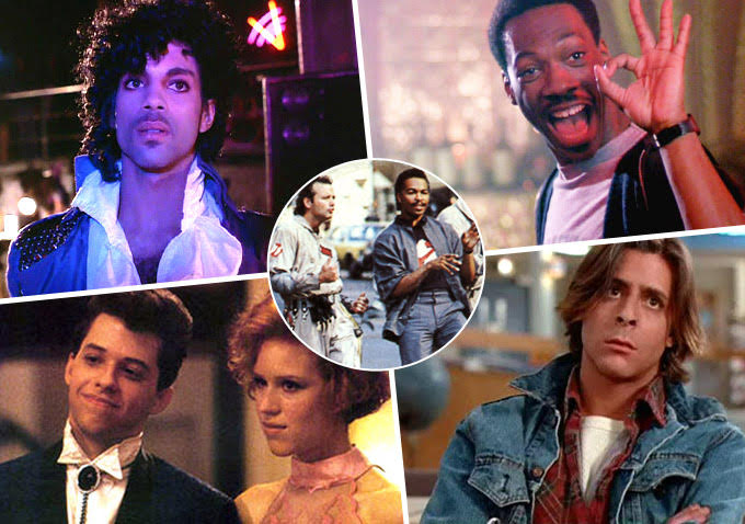 80s collage