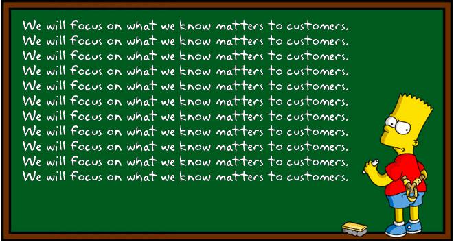 Bart Simpson at chalkboard